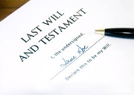 Last will  with pen